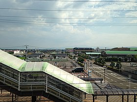 View of Kohoku Town from overpass of Hizen-Yamaguchi Station.jpg