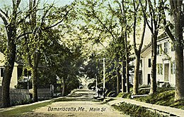 Damariscotta, Main Street in una cartolina del 1907