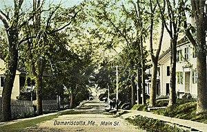 Damariscotta, Maine - Main Street c. 1907