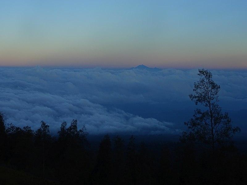 File:View of Mount Rinjani from Mount Tambora - Lesser Sunda Islands - Indonesia.jpg