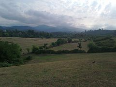 View of Talysh Mountains from Havzova Village, 2010 (1)