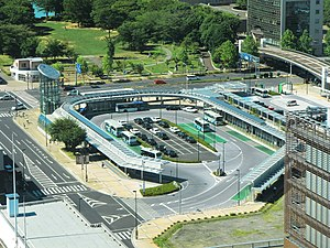 View of Tsukuba Center Bus Terminal July, 2012.jpg