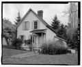 View of house no. 77, facing south from Olympic Avenue - House No. 77, Olympic Drive, Port Gamble, Kitsap County, WA HAER WA-154-1.tif