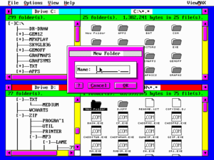 ViewMAX - Screenshot of ViewMAX/2 file manager with user-defined colors