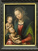 Virgin and Child Adored by the Infant St. John by Lucas Cranach the Elder - Statens Museum for Kunst - DSC08168.JPG