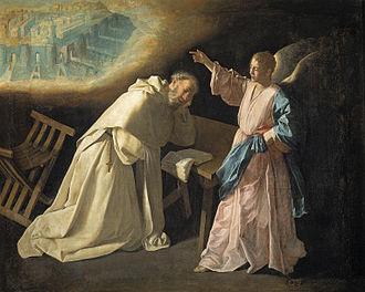 Peter Nolasco - San Pedro Nolasco has a vision of Jerusalem.