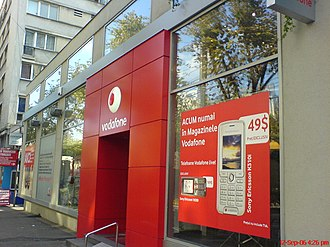 "Vodafone Romania - A former ""Connex Center"" rebranded as Vodafone in Iaşi, Romania."