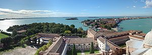 San Giorgio Monastery -  View of the Monastery of San Giorgio Maggiore from the bell tower