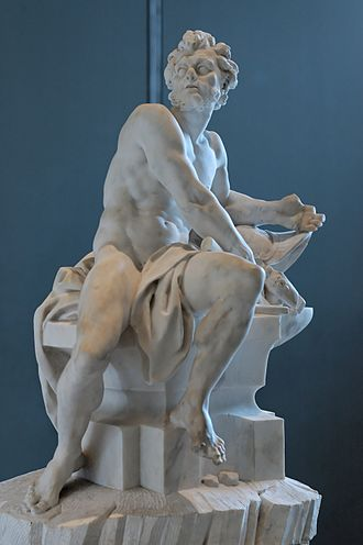 Hephaestus - Hephaestus at the Forge by Guillaume Coustou the Younger (Louvre)