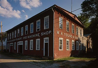 Rices Landing, Pennsylvania - Former foundry in Rices Landing