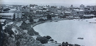 Perth Water - Mounts Bay Road and Perth Water, 1947 photograph from Kings Park