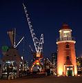 WLANL - Quistnix! - Havenmuseum - Blik op de kade vanaf het Maritiem Museum bij nacht.jpg
