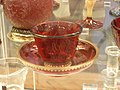 WLA vanda Glass cup and saucer Germany.jpg