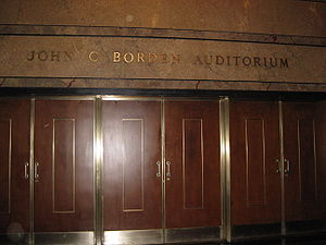 Manhattan School of Music - Entrance to the John C. Borden Auditorium