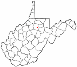 Location of Anmoore, West Virginia