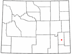 Location of Wheatland in the state of Wyoming