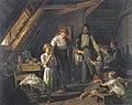 Waldmüller - Abschied der Eltern - Das älteste der Kinder hütet Brüder und Schwestern in Abwesenheit der Eltern.jpg