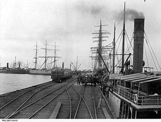 Wallaroo, South Australia - Image: Wallaroo jetty, South Australia, 1909