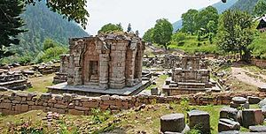Lalitaditya Muktapida - The Wangath Temple complex, identified as the Bhutesha shrine mentioned in Kalhana's account