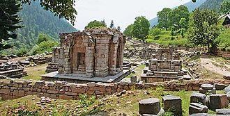 Lalitaditya Muktapida - The Wangath Temple complex, identified as the Bhutesha shrine mentioned in Kalhana's account
