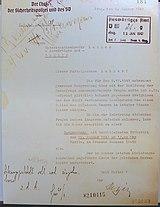 fac-similé de lettre de Reinhard Heydrich à Martin Luther