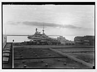 War ship in the Haifa Harbour. LOC matpc.04295.jpg