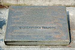 Tablica upamiętniająca kilkugodzinną bitwę września 1939