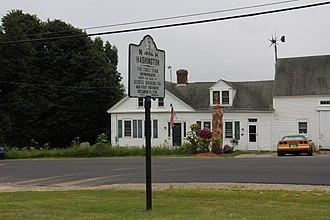 Washington, New Hampshire - The sign for Washington