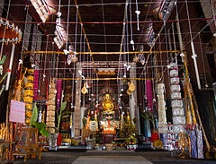 The interior of the wihan of Wat Nong Daeng, Chiang Klang District, Thailand