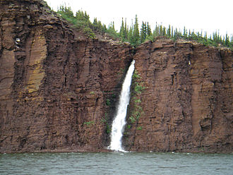 Coppermine River - One of many waterfalls along the river