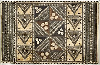 Tapa cloth - Wedding Tapa, 19th century, from the collection of Los Angeles County Museum of Art
