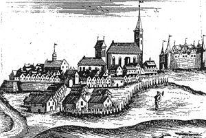 Węgorzewo - Angerburg in 1684