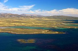 West Falkland from near Keppel Island