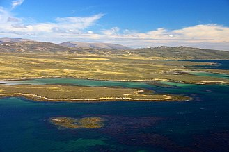 West Falkland - West Falkland from Keppel Island
