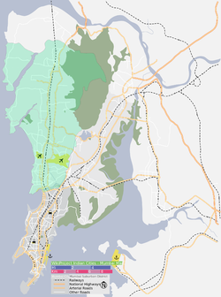 The Western Suburbs precinct is shown in green