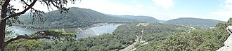 Edward B. Garvey - Panoramic view of the Potomac River taken from Weverton Cliffs looking west/southwest