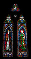 Wexford Church of the Immaculate Conception South Aisle Window Saints Laurentius O Toole and Margarita 2010 09 29.jpg
