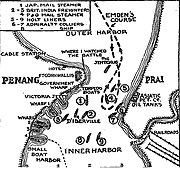 When the Emden Raided Penang, Map, fromThe New York Times, Dec