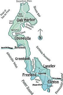Whidbey Island island in the United States of America