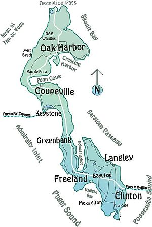Whidbey Island - Map of Whidbey Island