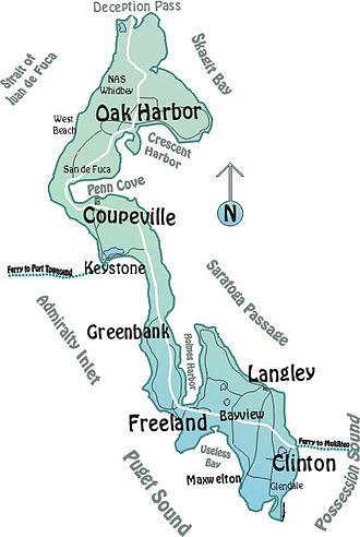 Whidbey Island - Map of Whidbey Island