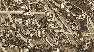 Fort Sanders, Knoxville, Tennessee - White's Addition, as it appeared on an 1886 map of Knoxville