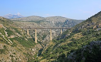 Belgrade–Bar railway - Mala Rijeka Viaduct