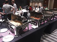Wikimania 2015-Thursday-Food for hungry Hackathon people (6).jpg