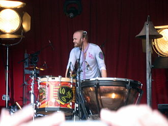 Viva la Vida - Will Champion with the timpani and church bell used in the song