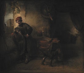 Standing Young Man at the Window in his Study Reading, known as\