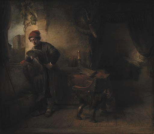 Willem Drost - Standing Young Man at the Window in his Study Reading, known as 'The Student' -dep6