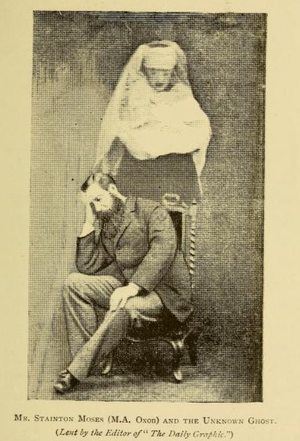 William Stainton Moses - Spirit photograph featuring Moses.
