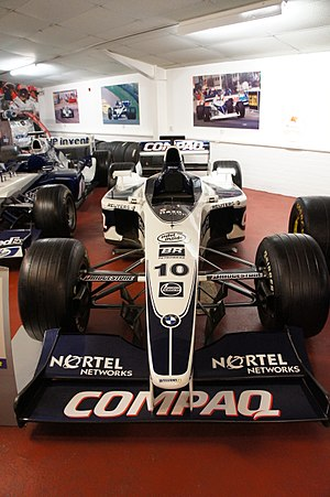 Jenson Button - Button's Williams FW22 at the Donington Grand Prix Exhibition.