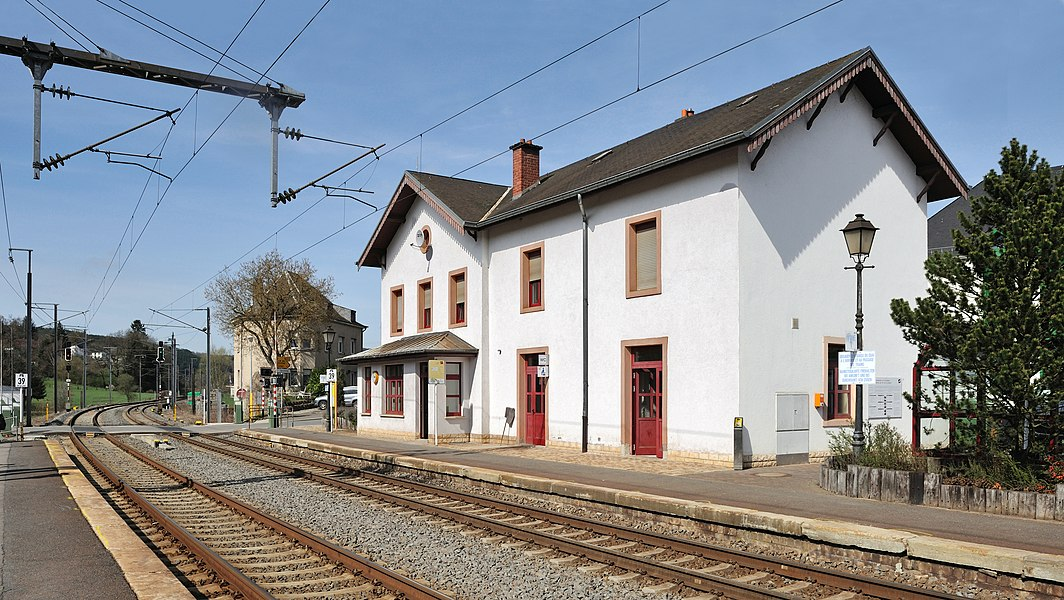 Luxembourg: Railway station at Wilwerwiltz in 2011.